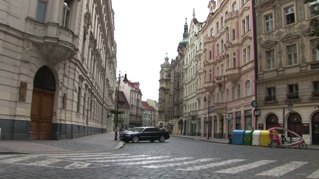 PragueCity Street in Prague Czech Republic