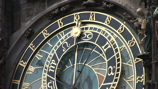 pragueold town hall tower and astronomical clock in prague czech republic - altstädter ring stock-videos und b-roll-filmmaterial