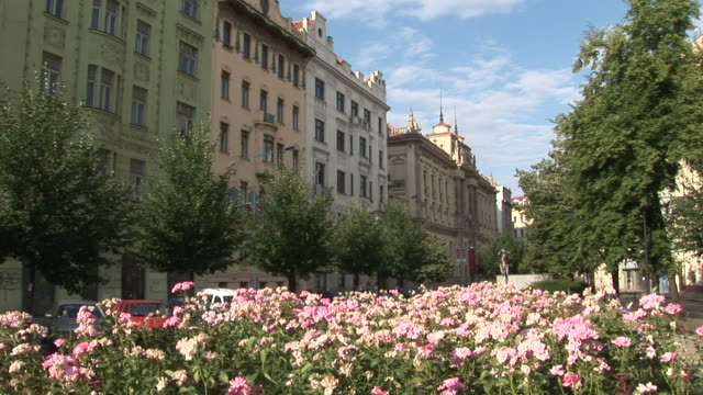 pragueview of a blvd in prague czech republic - traditionally czech stock videos & royalty-free footage