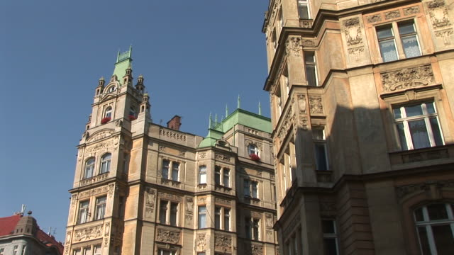 pragueview of a building in prague czech republic - traditionally czech stock videos & royalty-free footage