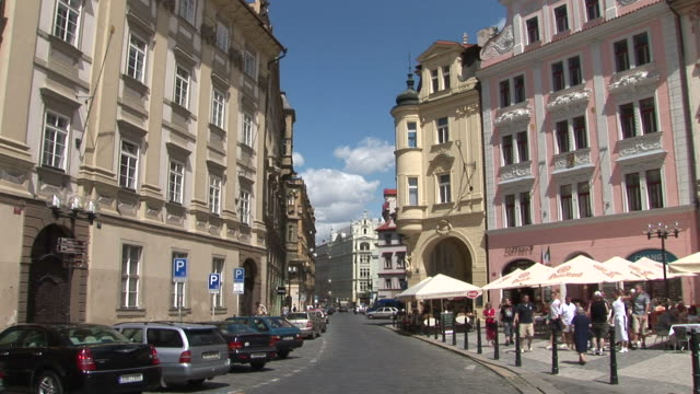 pragueview of a city street in prague czech republic - traditionally czech stock videos & royalty-free footage