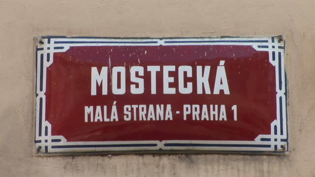 PragueView of a signboard in Prague Czech Republic