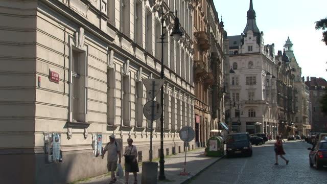 PragueView of City Street in Prague Czech Republic