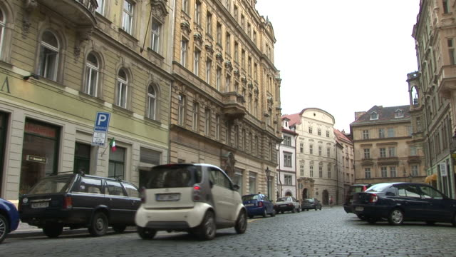 PragueView of City Street in Prague Czech Republic