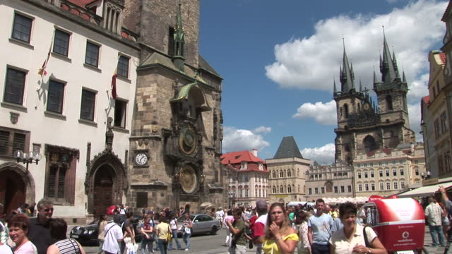 pragueview of old town square in prague czech republic - stare mesto stock videos & royalty-free footage