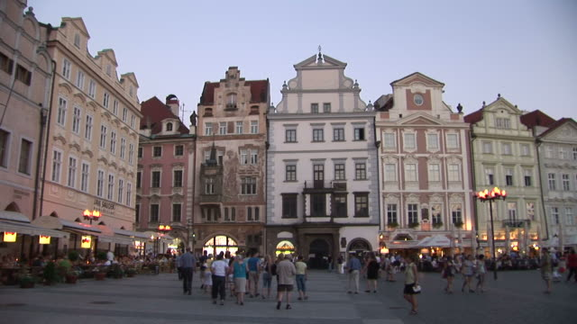 pragueview of old town square in prague czech republic - prague old town square stock videos and b-roll footage