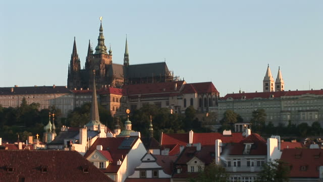 pragueview of prague castle in prague czech republic - eastern european culture stock videos & royalty-free footage