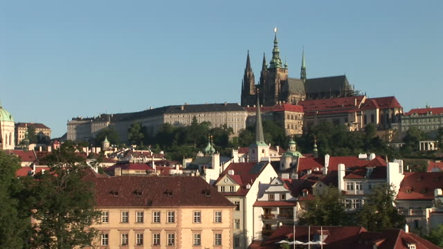 pragueview of prague castle in prague czech republic - traditionally czech stock videos and b-roll footage