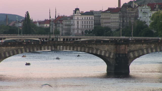 pragueview of vltava river in prague czech republic - river vltava stock videos & royalty-free footage
