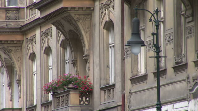 pragueview of window boxes in prague czech republic - traditionally czech stock videos & royalty-free footage