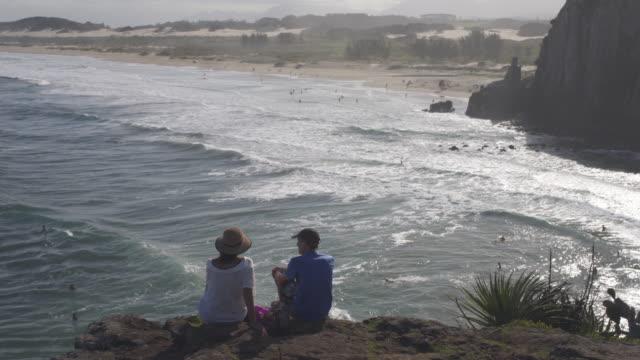 praia da guarita, torres, rio grande do sul. - リオグランデドスル州点の映像素材/bロール