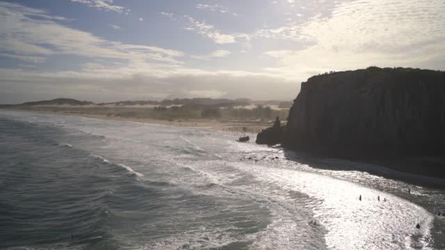 praia da guarita, torres, rio grande do sul. - stato di rio grande do sul video stock e b–roll