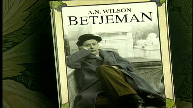 prank letter included in an wilson's biography of john betjeman; front cover of book 'betjeman' by an wilson as pages turned - john betjeman stock videos & royalty-free footage
