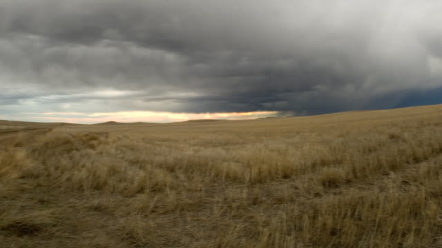 prarie storm hd timelapse pan - great plains stock videos & royalty-free footage