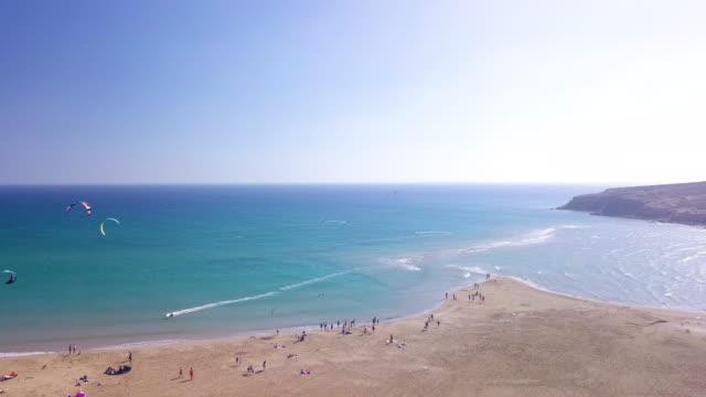 prasonsi beach - rhodes dodecanese islands stock videos & royalty-free footage