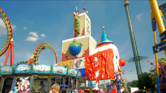 prater fairground. - prater park stock videos & royalty-free footage