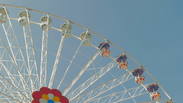 prater fairground.big wheel.medium shot - prater park stock videos & royalty-free footage