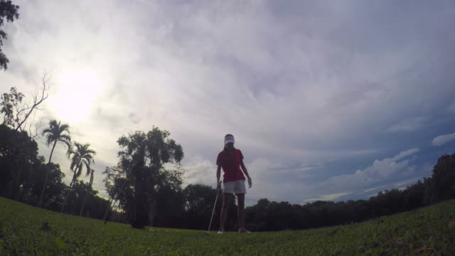 praticing action - golf swing stock videos & royalty-free footage