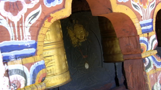 prayer wheel - bhutan series - bhutan stock videos & royalty-free footage