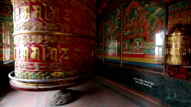 prayer wheel, kathmandu, nepal - mandala stock videos & royalty-free footage