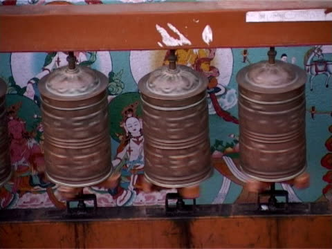 prayer wheels - traditionally tibetan stock videos & royalty-free footage