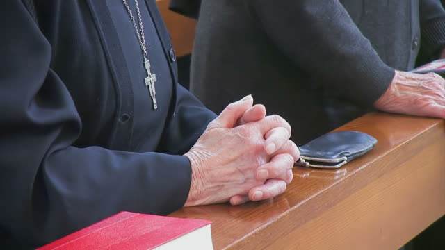 praying nun - catholicism stock videos & royalty-free footage