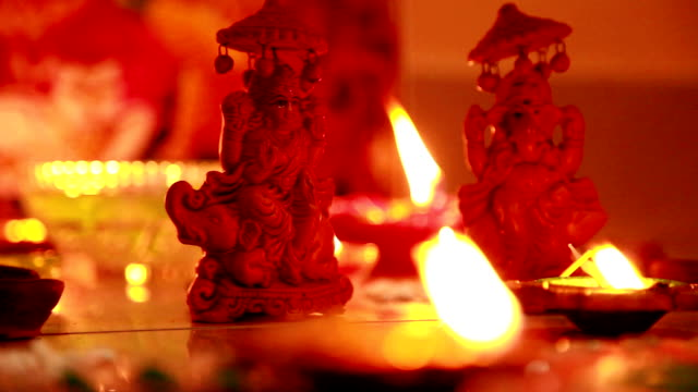Happy diwali greetings videos and b roll footage getty images praying to god m4hsunfo
