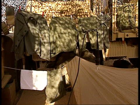 pre war clipreel 1st foreign legion armoured reg tf 1 pool day foreign legion command vehicles / legionnaires working around the vehicles / satellite... - festzelt stock-videos und b-roll-filmmaterial