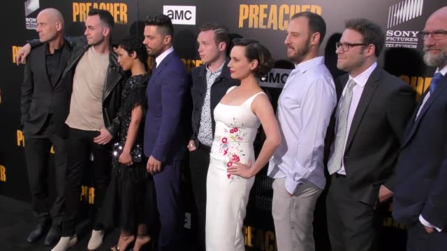 'preacher' cast at the premiere of amc's 'preacher' season 2 on june 20 2017 in los angeles california - preacher stock videos and b-roll footage