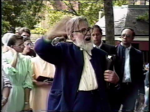 preacher giving sermon in nyc park - preacher stock videos and b-roll footage
