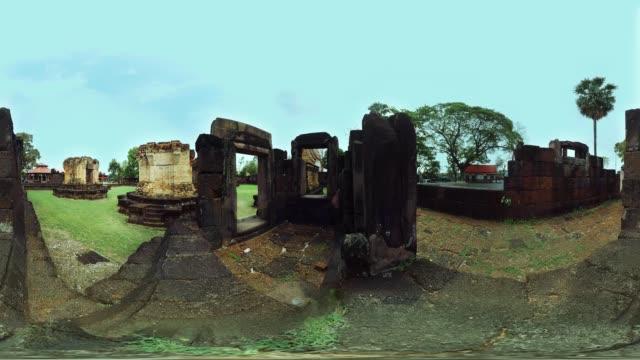 vídeos de stock e filmes b-roll de preah vihear temple - panorama equiretangular