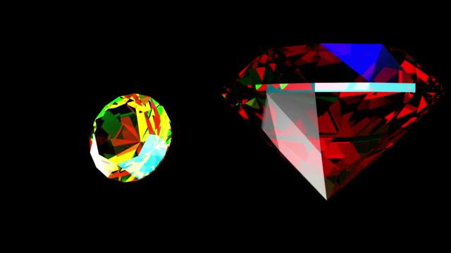 vídeos de stock e filmes b-roll de pedras preciosas jóias em visualização - gema semipreciosa