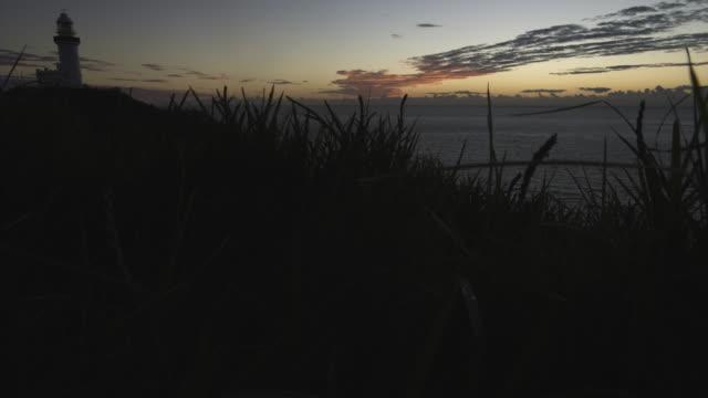 pre-dawn lighthouse jib up - steve munro stock videos & royalty-free footage