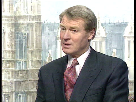 pregeneral election sparring itn cms paddy ashdown mp intvwd sof most people know this is a sham argument with bogus statistics/ party ldrs should... - strohhut stock-videos und b-roll-filmmaterial