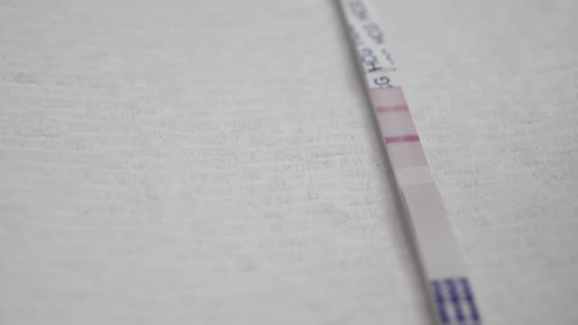 vídeos y material grabado en eventos de stock de prueba de embarazo - prueba de embarazo