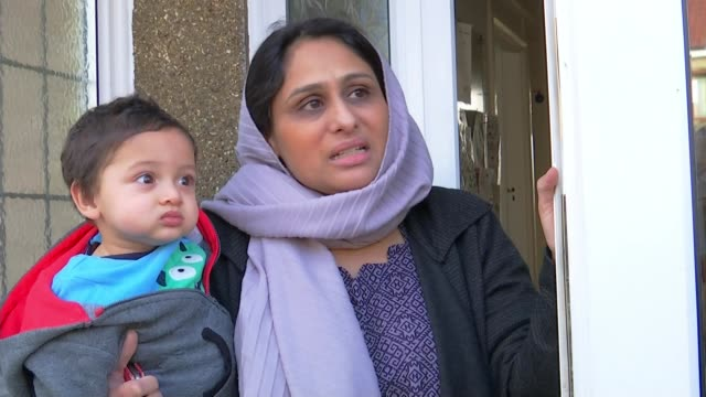 vídeos de stock, filmes e b-roll de pregnant woman dies after being attacked with crossbow; england: london: ilford: ext ambreen zaidi interview sot david julful interview sot. - ilford