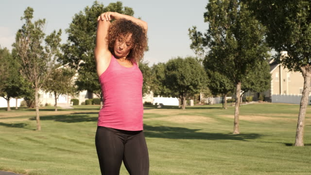 pregnant woman fitness exercise - belly stock videos & royalty-free footage