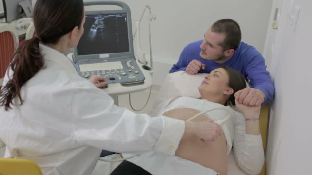 pregnant woman in hospital - gynecological examination stock videos and b-roll footage