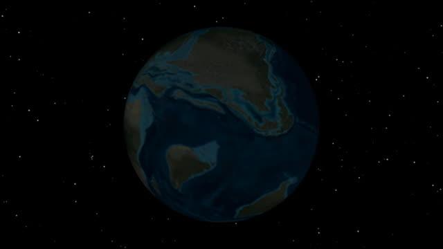Prehistoric Earth Globe Cretaceous Period
