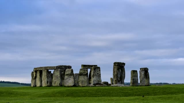 prehistoric stonehenge monument in the morning, wiltshire, amesbury, united kingdom - stonehenge stock videos and b-roll footage