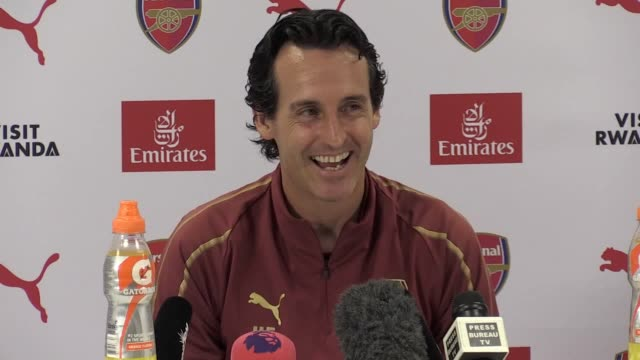 Prematch press conference with Arsenal manager Unai Emery ahead of their Premier League match against Cardiff