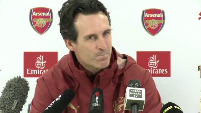 Prematch press conference with Arsenal manager Unai Emery ahead of their Premier League clash against Burnley FC at home