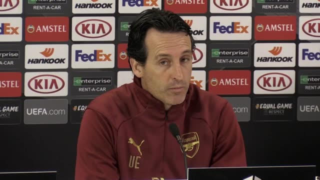 Prematch press conference with Arsenal manager Unai Emery ahead of the Europa League clash against Rennes