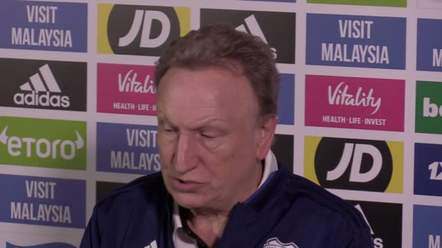 Prematch press conference with Cardiff City manager Neil Warnock ahead of their Premier League clash at home against Manchester United on Saturday
