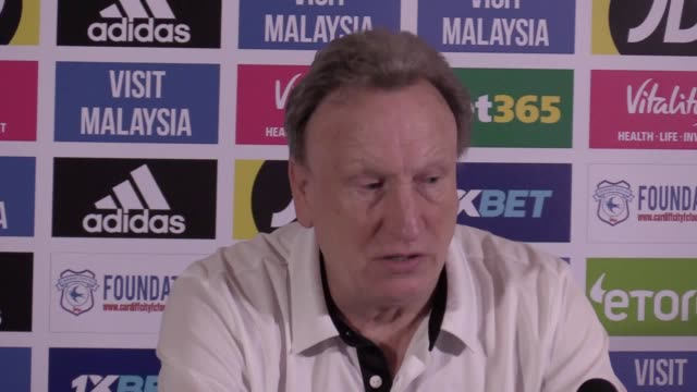 Prematch press conference with Cardiff manager Neil Warnock ahead of their Premier League match against Huddersfield
