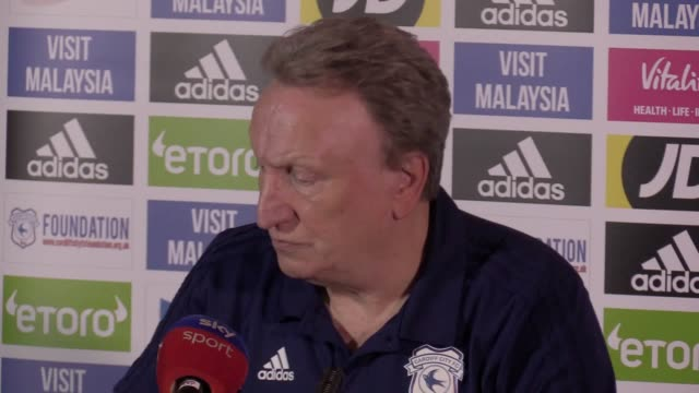 Prematch press conference with Cardiff manager Neil Warnock ahead of the Premier League game against Everton on Tuesday