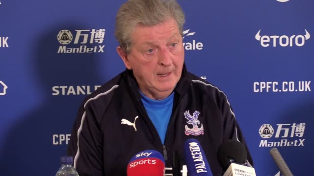 Prematch press conference with Crystal Palace manager Roy Hodgson ahead of their match against Watford in the Premier League