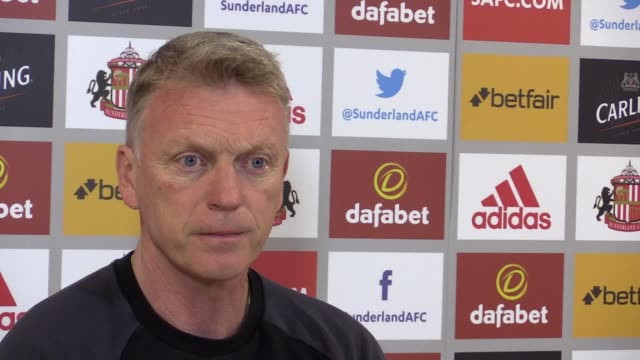prematch press conference with sunderland manager david moyes ahead of wednesday night's premier league trip to middlesbrough - middlesbrough stock videos and b-roll footage