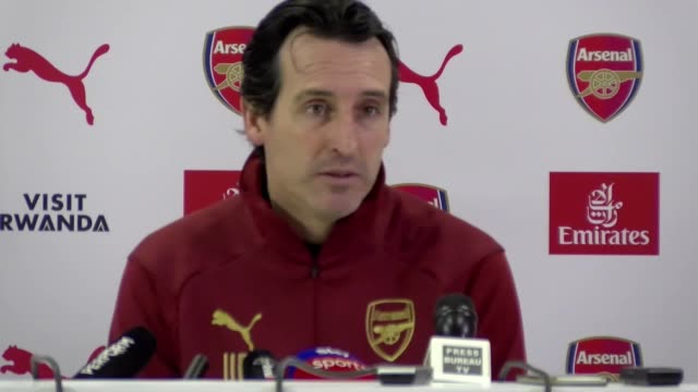 Prematch press conference with Unai Emery ahead of their Premier League game against Man City