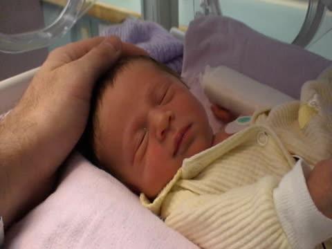 Premature Newborn Baby in an Incubator